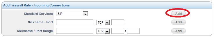 Sangoma SBC IP Firewall Rule