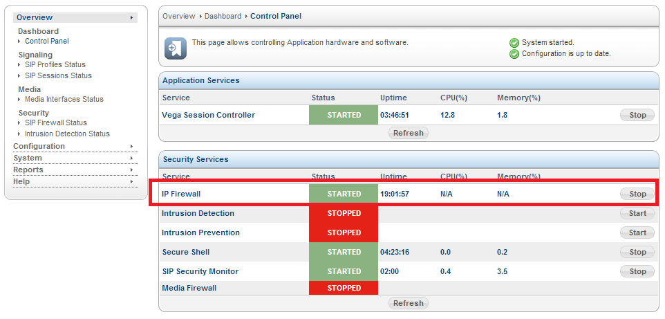 Sangoma SBC IP Firewall Service