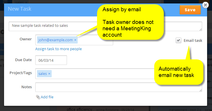 Assigning new task