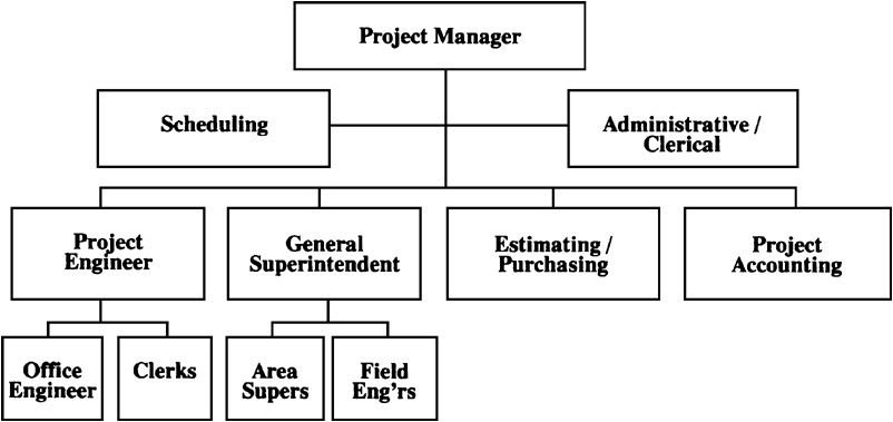 Typical Project Organization ChartLarge Projects  CollinS