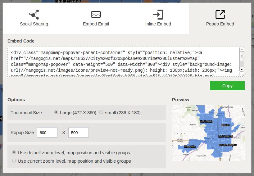 Embedding Maps in a Website or Blog  Documentation  Mango