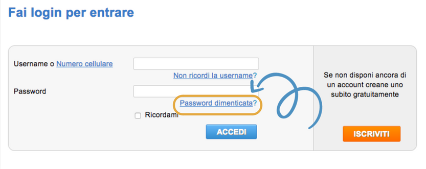 password-dimenticata