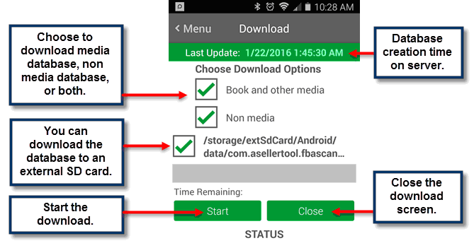 Downloading Database on Android