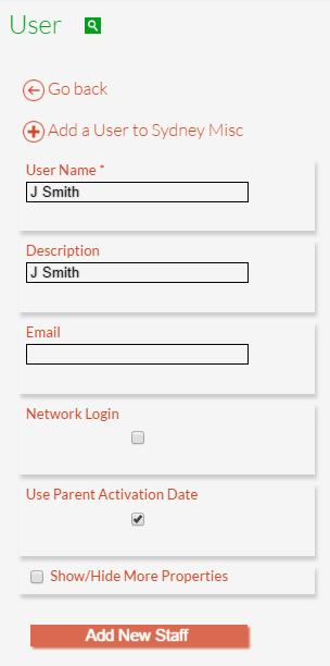Add a New User