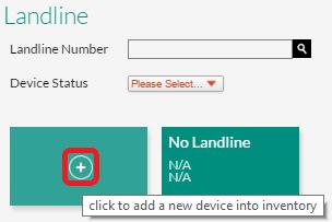 Add New Landline
