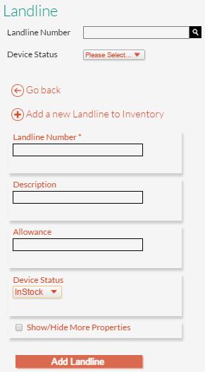 New Landline Details