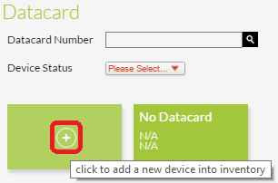 Add New Datacard icon