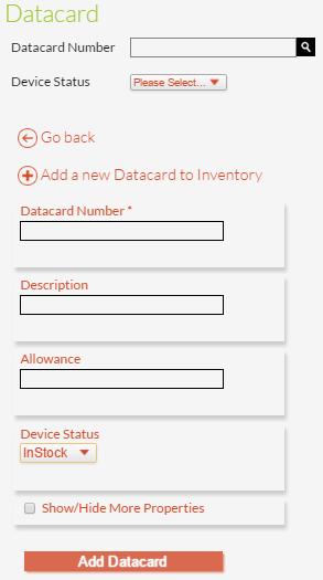 New Datacard Details