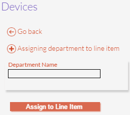 Line Items Assignment Panel