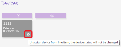Un-assign Line Item