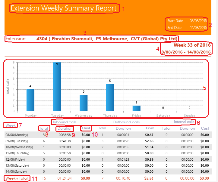 Extension Weekly Summary Report