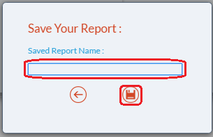 Enter report name and save