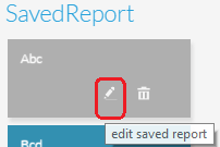 Edit Report icon