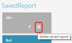 Delete Report icon