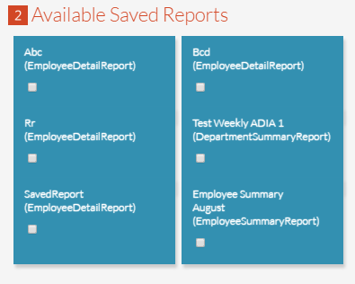Select from Saved Reports