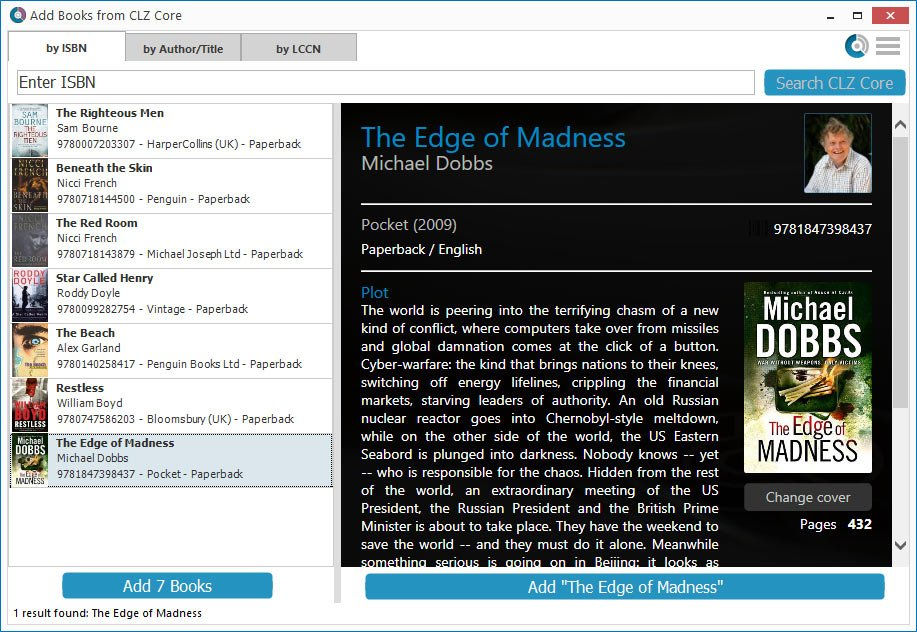 Adding your first books - Book Collector for Windows - V19