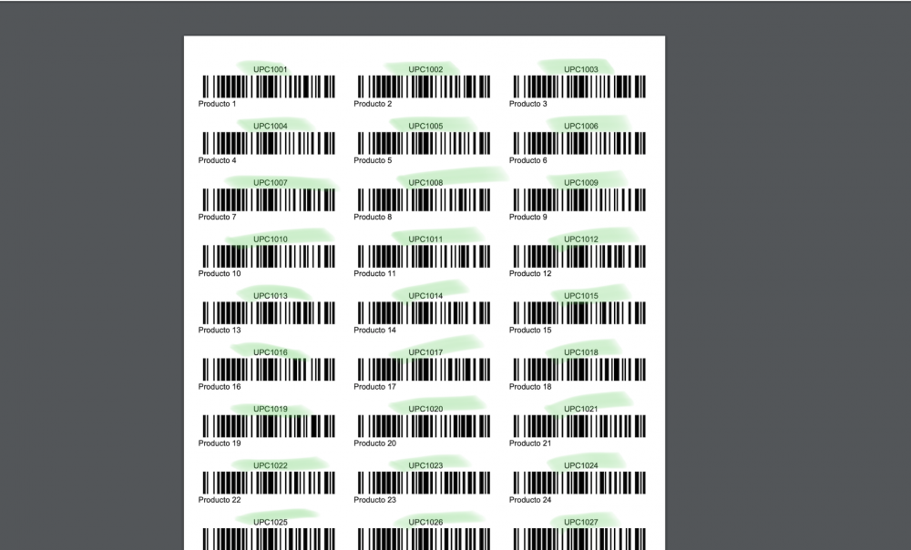 Print Labels by UPC code - SwiftCount - 1