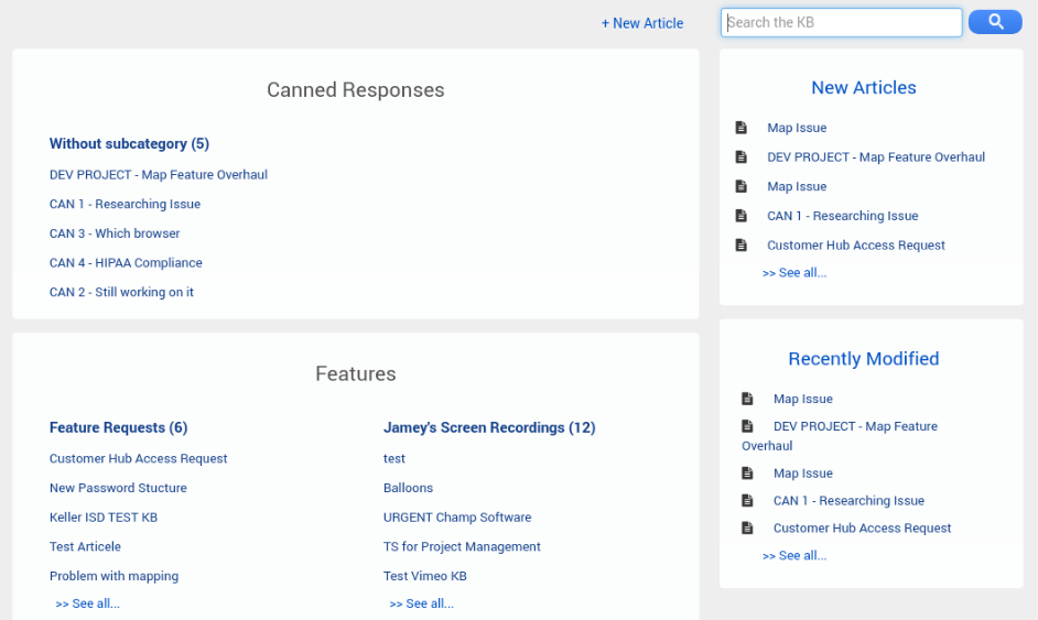 access knowledge base template - access to knowledge base customer support software