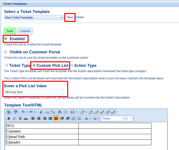 Ticket Templates TeamSupport Documentation 1 – Sample of Tickets Templates