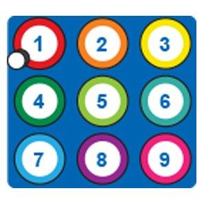 zlp Blue Numeric Keypad Button