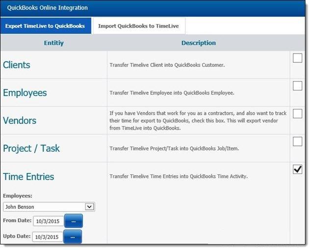 QuickBooks Online Integration with TimeLive - TimeLive Help - 1