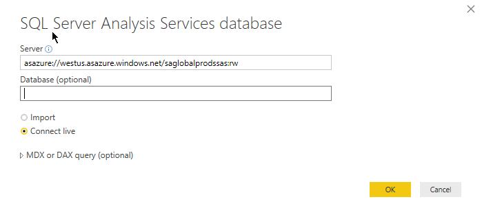SQL Server Analysis Services DB