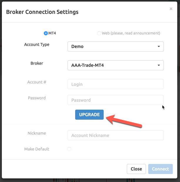 Connect a Metatrader 4 Broker Account - Manual - 1 0