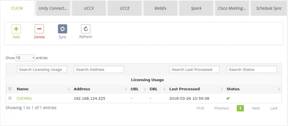 Delete Uccx License