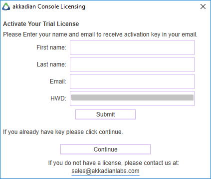 3 1 Licensing Akkadian Console - Akkadian Console Admin