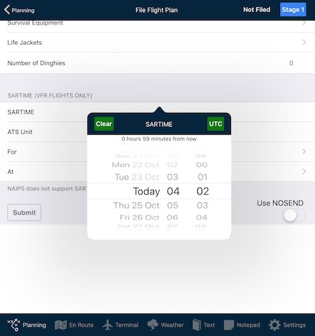 Submit ICAO flight plan via NAIPS - User Manual (iOS) - 7 x