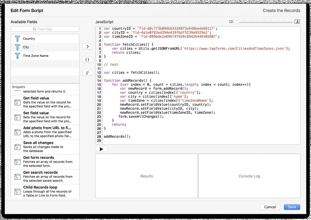 Scripts - Tap Forms Mac - 5 3