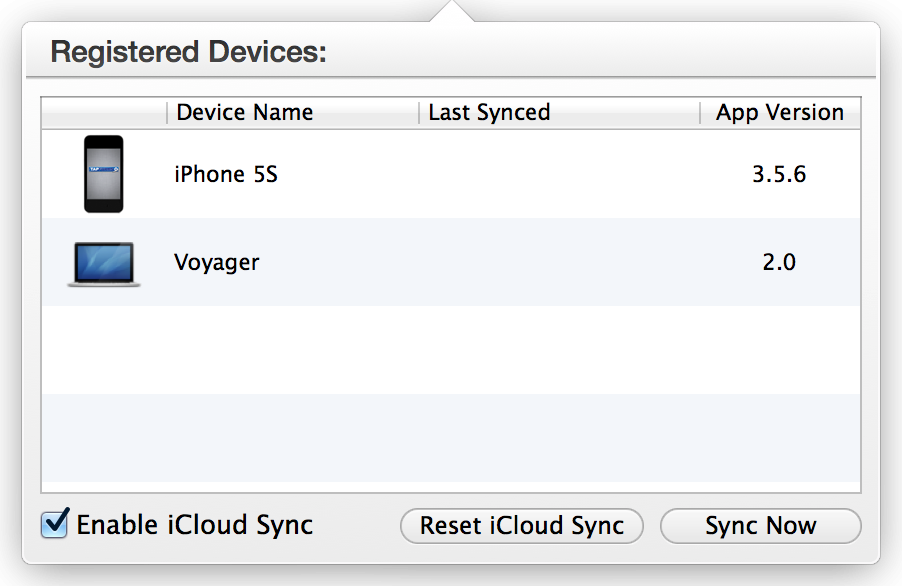 iCloud Sync - Tap Forms Mac - 2 0