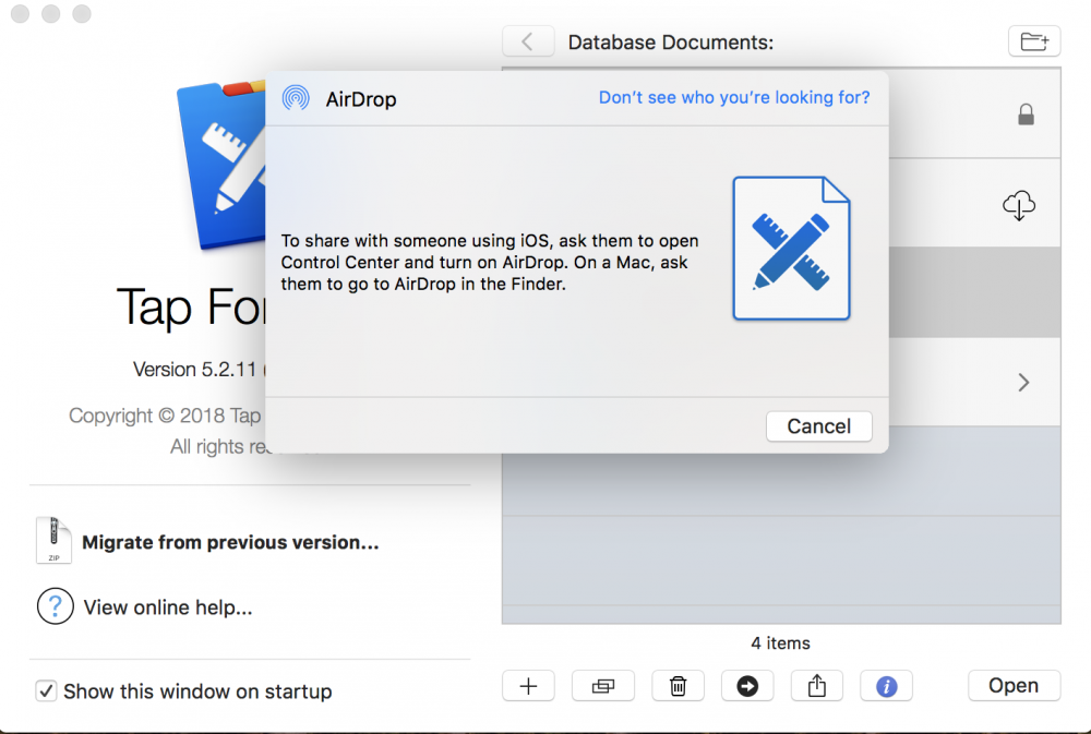 Send To Another Device Tap Forms Mac 53