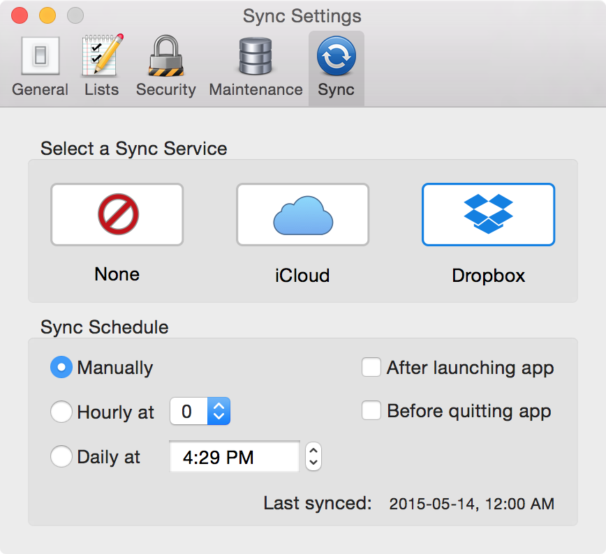iCloud Sync - Tap Forms Mac - 3 0