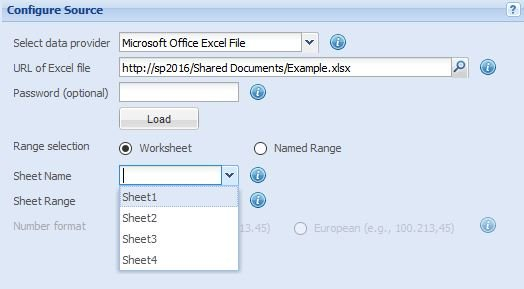 Configuring the Data Source - SharePoint Chart Web Part - 1