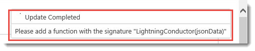 Using the JSON Display Provider - Lightning Conductor Web