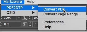 Select Convert PDF