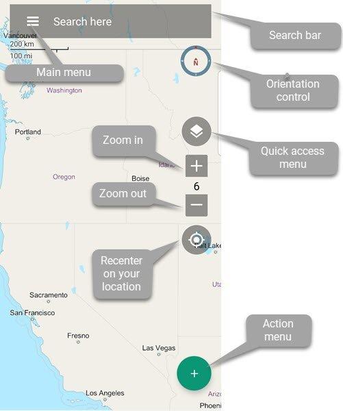 Map Screen v2 - BackCountry Navigator XE - 1