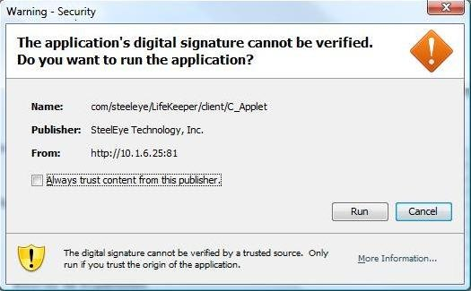 Java Mixed Signed and Unsigned Code Warning - SIOS