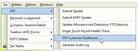 e-PayDay® Payroll Software - STP Customer Dashboard