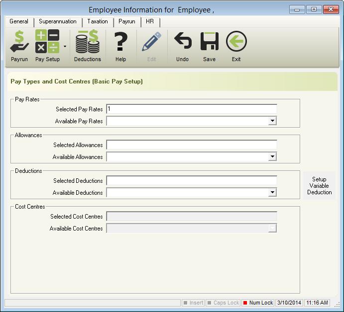 e-PayDay® Basic Pay Setup