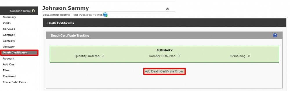 Death Certificates Pulse Full System 1