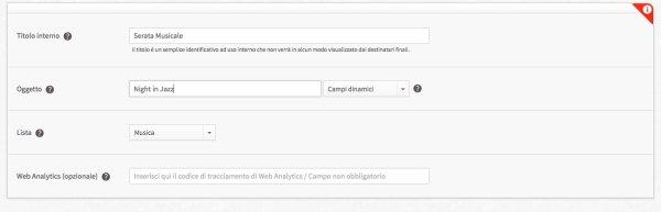 configurare invio email