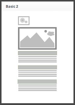 modello di template per email