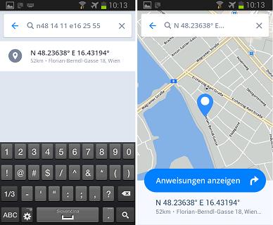 Koordinaten Karte.Navigation Mit Gps Koordinaten Sygic Gps Navigation For Android