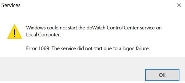 log-in credentials failed