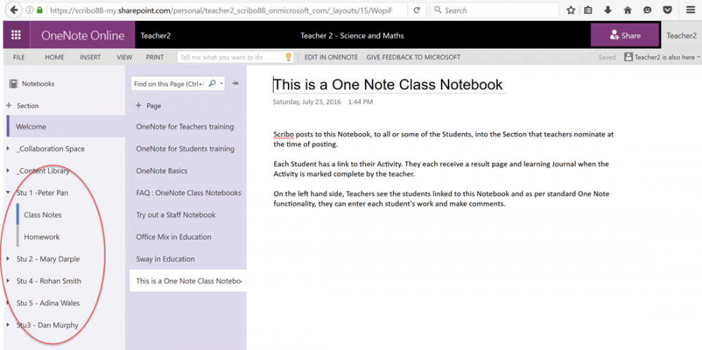 how to change name of notebook in onenote