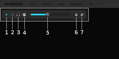 Desktop tools bar