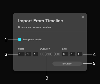 Import from time–line