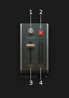 Audiotrack controls